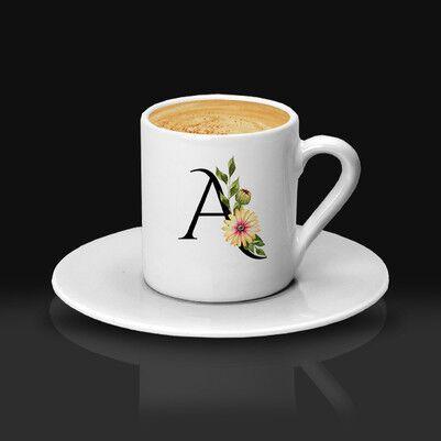 - Sevgiliye Hediye Baş Harfli Kahve Fincanı