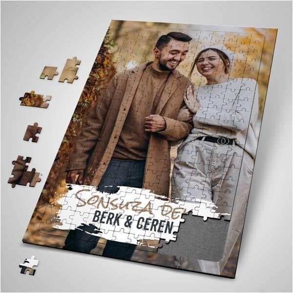 Sevgiliye Hediye Fotoğraf Baskılı Puzzle