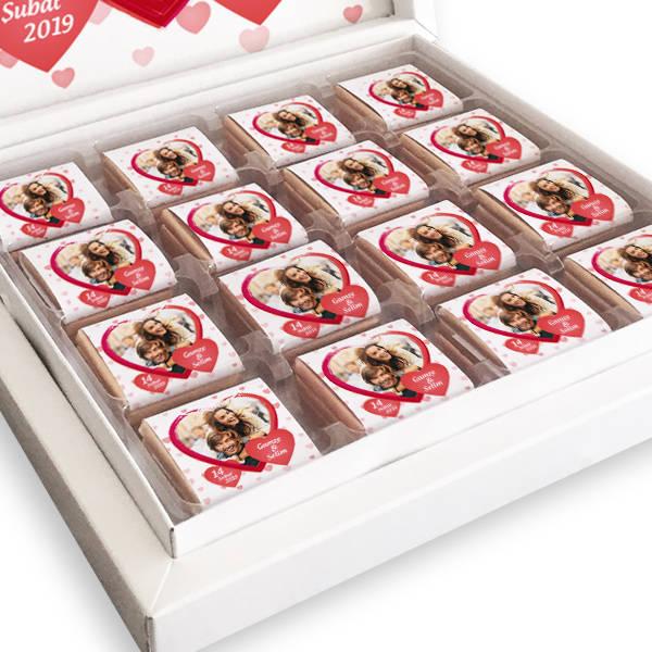 Sevgiliye Hediye Fotoğraflı Kutu Çikolata