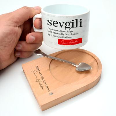 - Sevgiliye Hediye Kaşıklı Lüks Çay Fincanı