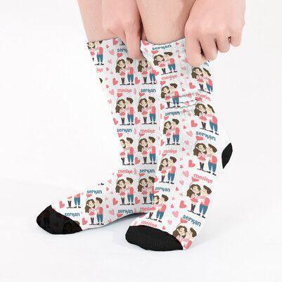 - Sevgiliye Hediye Mutlu Çiftler Çorabı