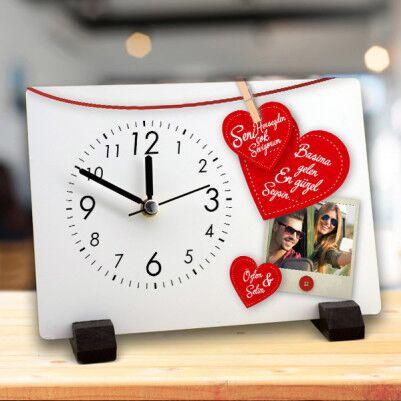 - Sevgiliye Hediye Resimli Masa Saati