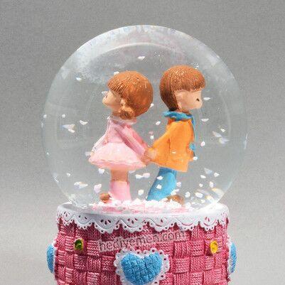 Sevgiliye Hediye Romantik Kar Küresi - K12 - Thumbnail