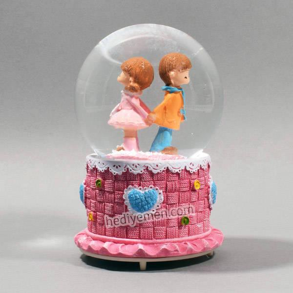 Sevgiliye Hediye Romantik Kar Küresi - K12