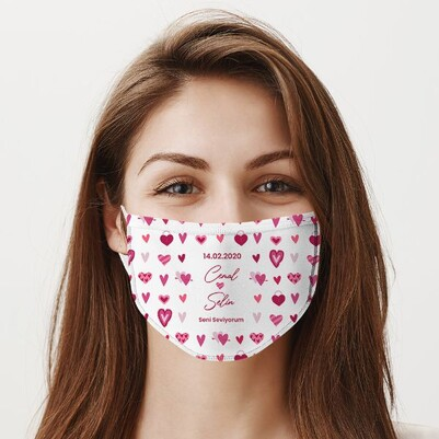 Sevgiliye Hediye Yıkanabilir Ağız Maskesi - Thumbnail