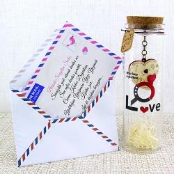 - Sevgiliye Mektuplu Aşk Şişesi Hediyesi