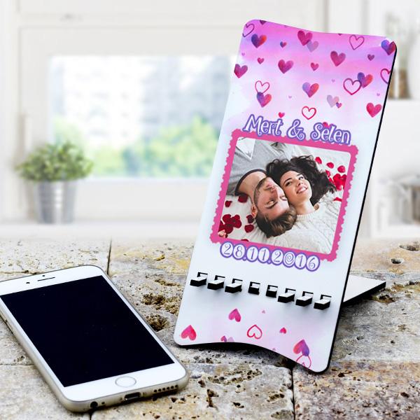 Sevgiliye Özel Fotoğraf Baskılı Telefon Tutucu