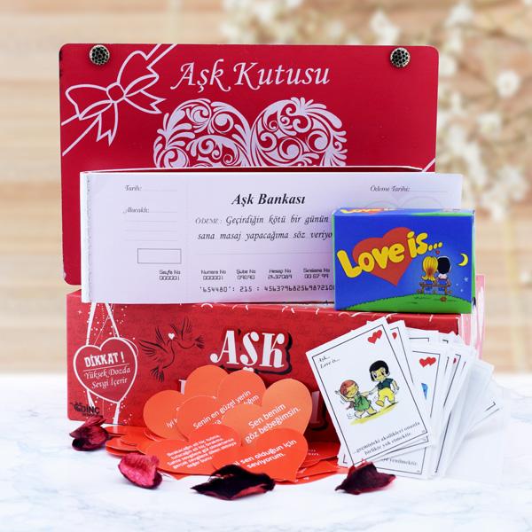Sevgiliye Özel Romantik Aşk Kutusu