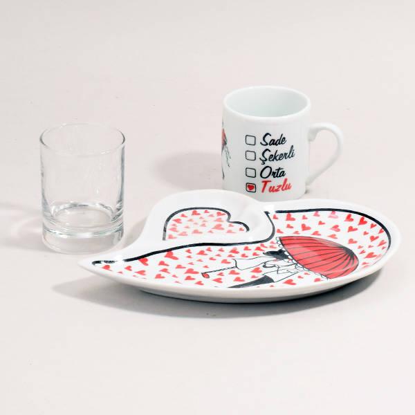 Sevgiliye Özel Romantik Kahve Seti