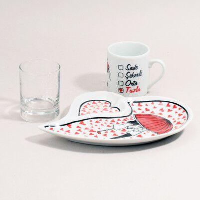 - Sevgiliye Özel Romantik Kahve Seti