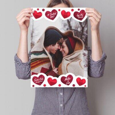 - Sevgiliye Özel Sıcak Kalpler Poster