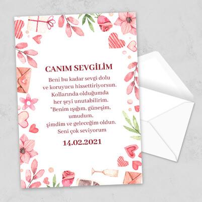 - Sevgiliye Romantik 14 Şubat Mektubu