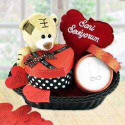 Sevgiliye Sevimli Sonsuz Aşkımız Hediye Sepeti - Thumbnail