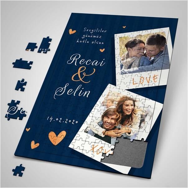 Sevgiliye Sürpriz 2 Fotoğraflı Puzzle