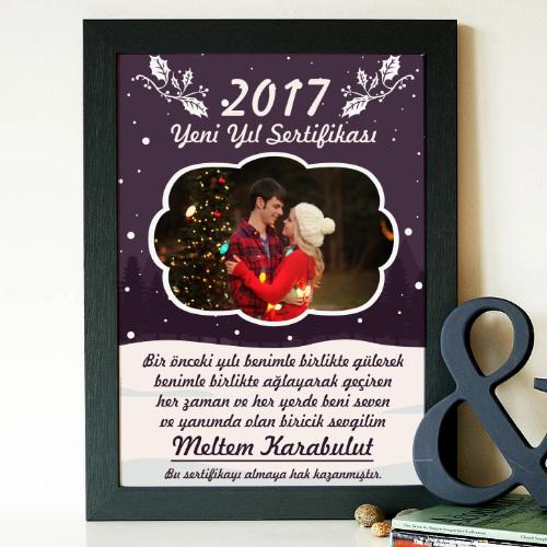 Sevgiliye Yeni Yıl Sertifikası