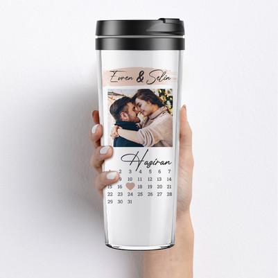 - Sevgiliye Yıldönümü Hediyesi Termos Bardak
