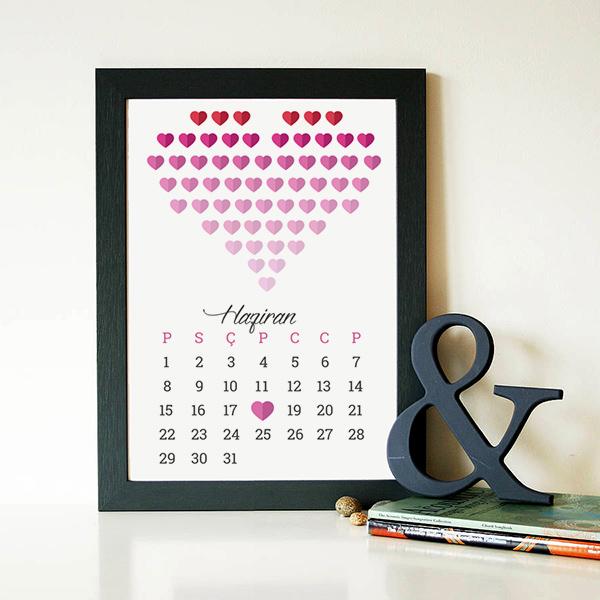 Sevgiliye Yıldönümü Temalı Hediye Sertifika
