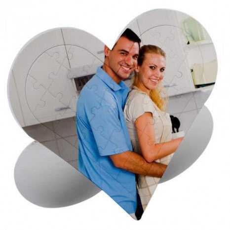 Sevgiliye Özel 27 Parça Kalp Puzzle