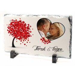 Sevgiliye Özel Fotoğraflı Taş Baskı - Thumbnail