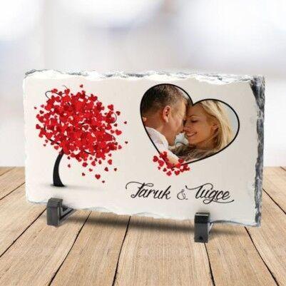 - Sevgiliye Özel Fotoğraflı Taş Baskı