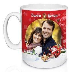 Sevgiliye Özel Fotoğraflı Yılbaşı Kupa Bardak - Thumbnail