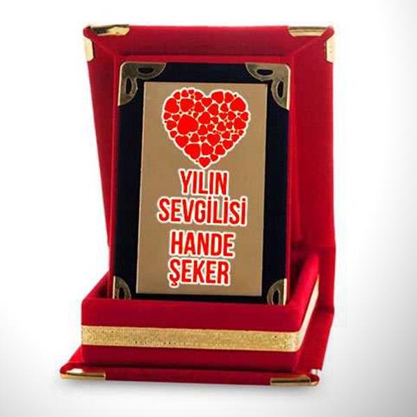 Sevgiliye Özel Mini Plaket