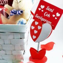 Sevgiliye Özel Romantik Aşıklar Hediye Sepeti - Thumbnail