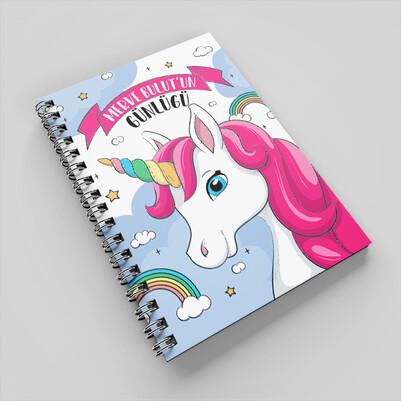 - Sevimli At Tasarımlı Kız Çocuk Defteri