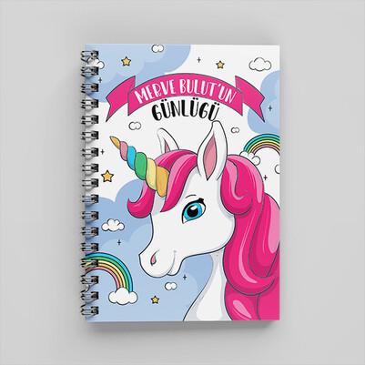 Sevimli At Tasarımlı Kız Çocuk Defteri - Thumbnail