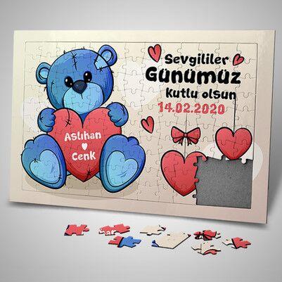 - Sevimli Ayıcık Tasarımlı 130 Parça Puzzle