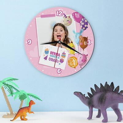 - Sevimli Baloncuklar Kız Çocuk Duvar Saati