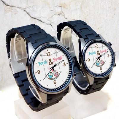 - Sevimli Baykuşlar İsme Özel Çift Saatleri