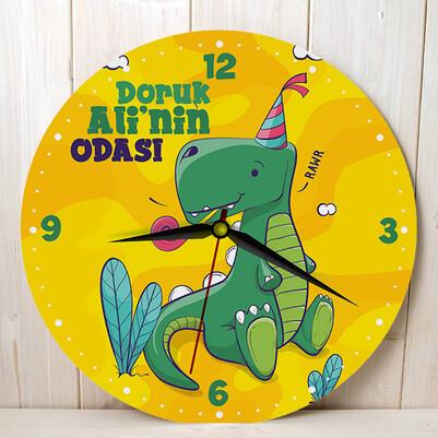 - Sevimli Dinozor Çocuk Duvar Saati