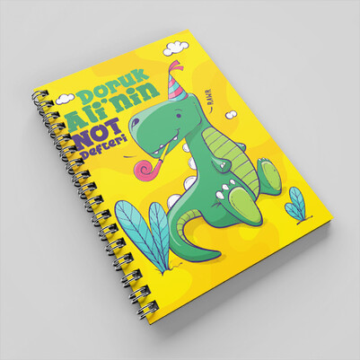 Sevimli Dinozor İsimli Çocuk Defteri - Thumbnail