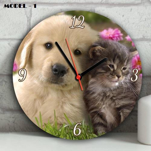 Sevimli Dostlarımız Tasarım Duvar Saatleri
