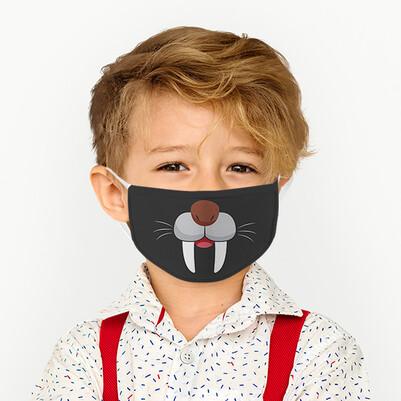 - Sevimli Fok Yıkanabilir Çocuk Maskesi