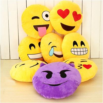 Sevimli Gülen Surat Emoji Yastıklar