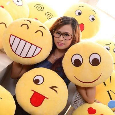 - Sevimli Gülen Surat Emoji Yastıklar