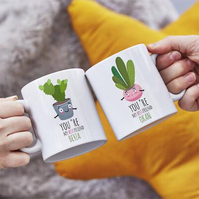 - Sevimli Kaktüsler İkili Sevgili Kupası