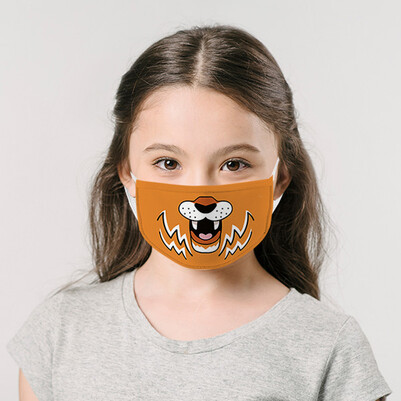 - Sevimli Kaplan Yıkanabilir Çocuk Maskesi