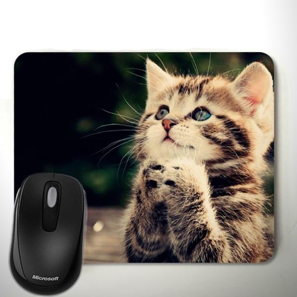 Sevimli Kedicik Temalı Mousepad