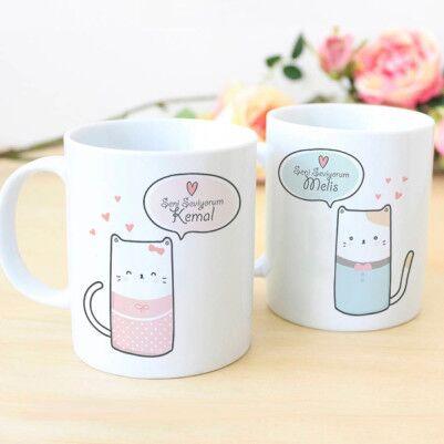 - Sevimli Kedicikler Sevgili Bardakları