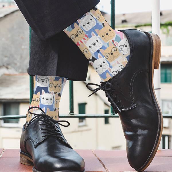 Sevimli Köpek Dostlarımız Tasarım Çorap