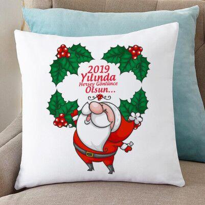 - Sevimli Noel Baba Temalı Yılbaşı Yastığı