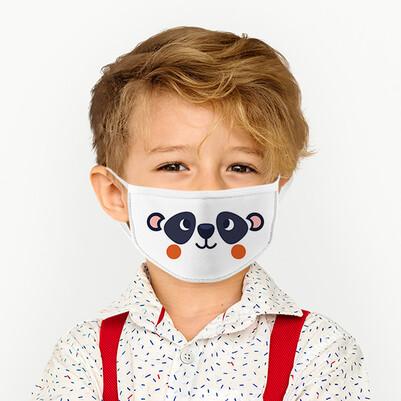 - Sevimli Panda Yıkanabilir Çocuk Maskesi