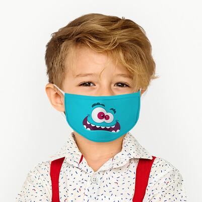 - Sevimli Tasarım Yıkanabilir Çocuk Maskesi