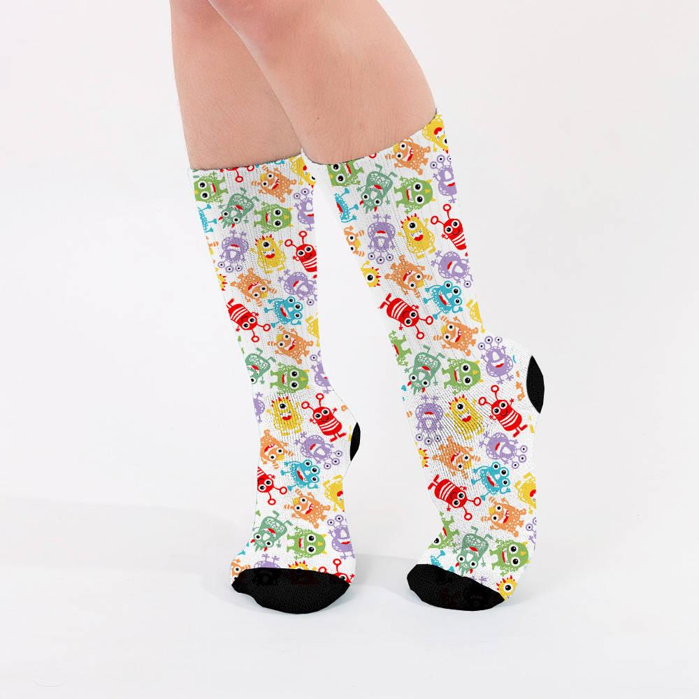 Sevimli Uzaylılar Tasarım Kadın Çorabı