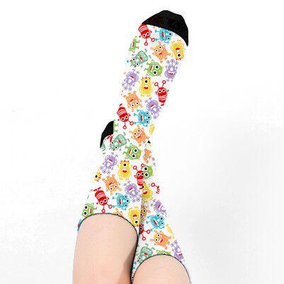Sevimli Uzaylılar Tasarım Kadın Çorabı - Thumbnail
