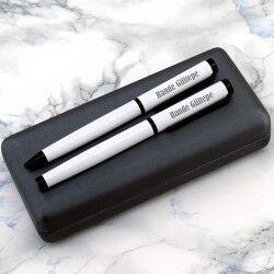 - Şık Kutuda İsme Özel 2′li Beyaz Kalem Seti