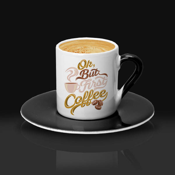 Şık Tasarımlı Kahve Fincanı